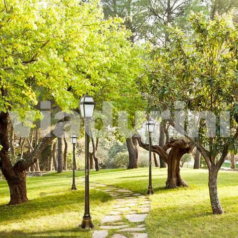 Streetlight för klassisk utomhus tillverkad i Italien, Kristel
