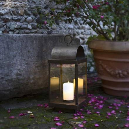 Trädgård lykta med järn eller mässing ljus Il Fanale
