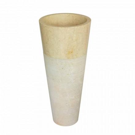 Cone kolumnen handfat i natursten beige Raja