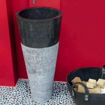 Handfat Column Taper sten Natural Black Raja