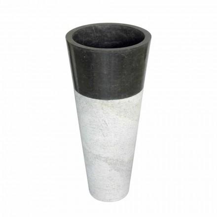 Cone kolumnen handfat i svart natursten Raja