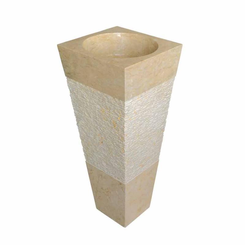 Handfat Column Pyramid sten Natural Beige Nias
