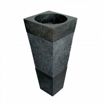 Handfat Column Pyramid sten Natural Black Nias