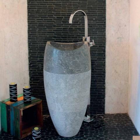 Handfat Column sfäriska sten Natural Smoke Gili