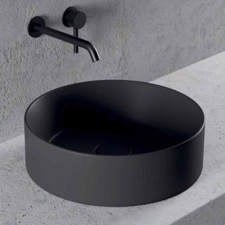 Runt design tvättställ i keramik Tillverkat i Italien - Malvina