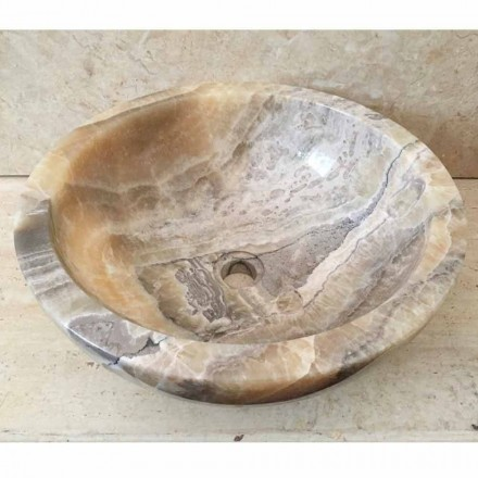 Countertop tvättställ i naturlig onyx sten Ana, handgjord