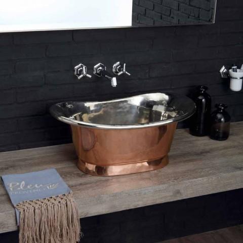 Handfat badrum koppar stöd och bleck Cala