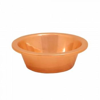 Handfat bad av koppar lagerhandgjorda Sole