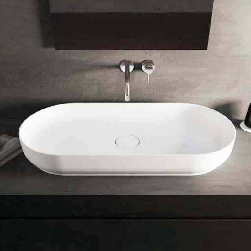 Modernt design frittstående badrumsfat tillverkat i Italien Dalmine Maxi