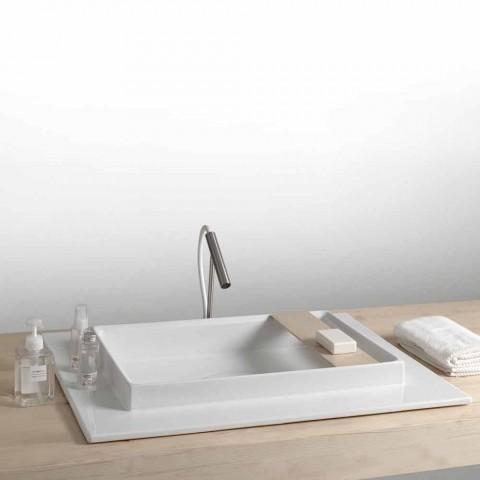 Handfat rektangulära keramiska badrum modern design Fred