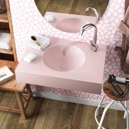 Cirkulär upphängd tvättställ i Luxolid tillverkad i Italien, Ruffano