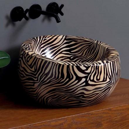 Modernt keramiskt handfat av bänkskivan tillverkad i Italien av Elisa