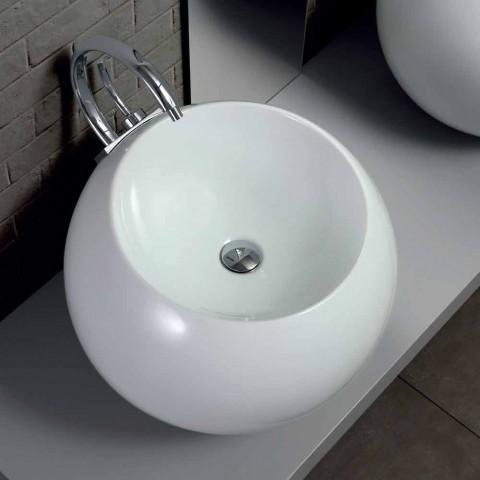 Bollformad diskbänk i färgade keramiska plattor