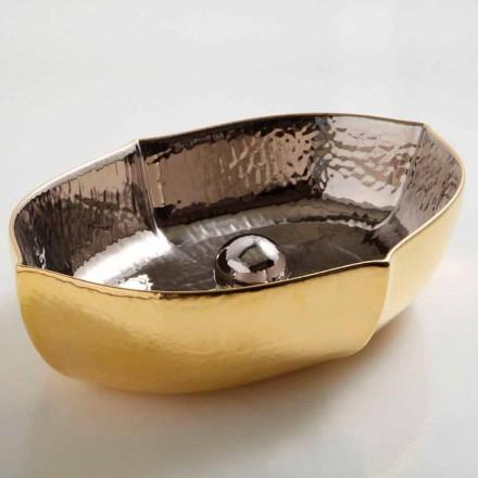 Countertop keramiska och guld bänkskivan gjord i Italien Oscar design