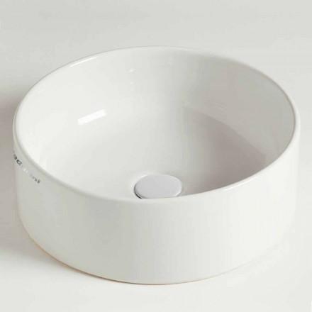 Modern cirkulär bänkskål i keramik tillverkad i Italien - Rotolino