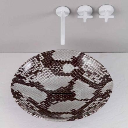 Countertop keramisk design handfat gjord i Italien Djur