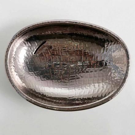 Design keramiskt handfat silver tillverkat i Italien Glansigt