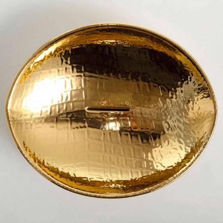 Countertop design keramiskt handfat guld gjord i Italien Djur