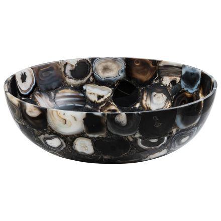 Handfat designstöd sten agat River, ett stycke