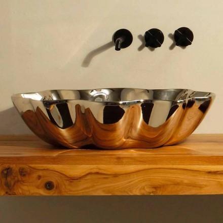 Modernt design keramiskt handfat tillverkat i Italien Cubo