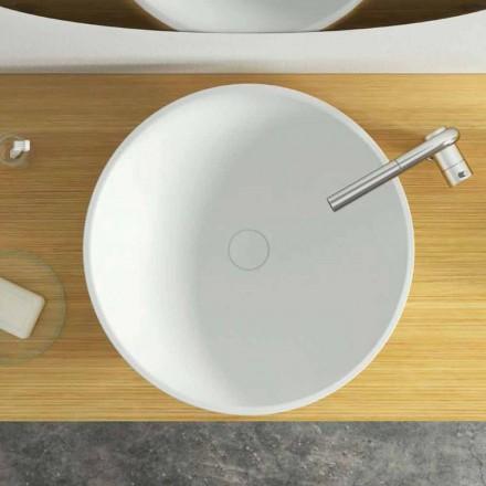 Cirkulär diskbänk för modern design tillverkad i Italien, Donnas