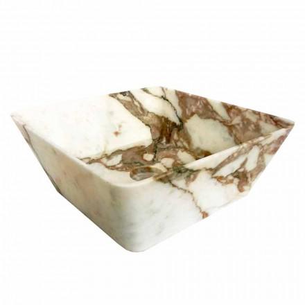 Modernt tvättställ för bänkskiva i Calacatta Marmor av Made in Italy Design - Kuore
