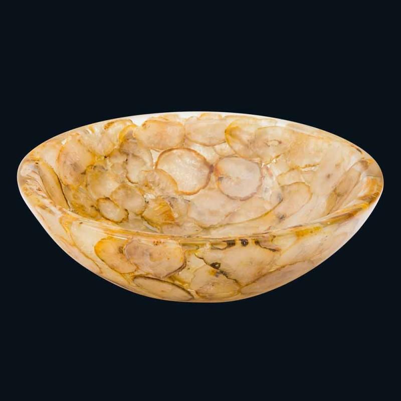 Bänk stöd modern konstharts och agat sten Petra