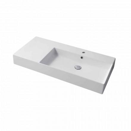 Höger bänkskiva med enkel hål eller väggmonterad diskbänk i keramisk Leivi