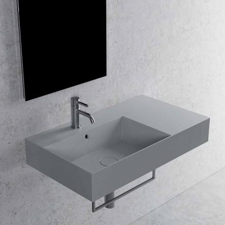 Bänkskiva eller vägghängt tvättställ i vit eller färgad keramik 2 storlekar - Malvina
