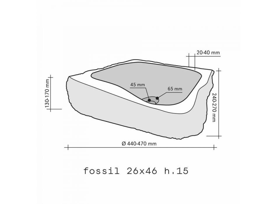 Handfat Stöd Piece Wooden Fossil Goa