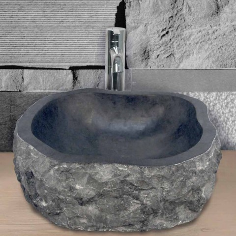 Tvättställ Stöd Piece Marble Black Mumbai