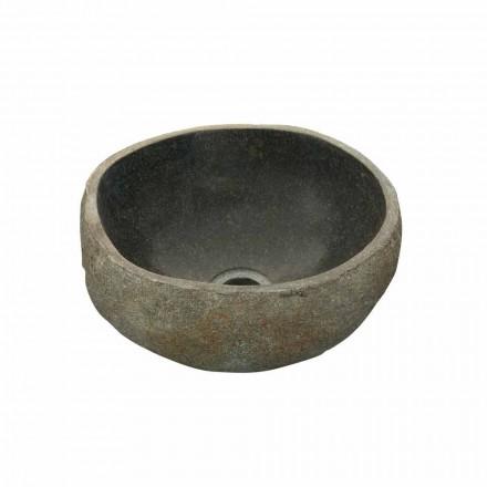 Enkelt diskbänk tvättställ i Agra flodsten