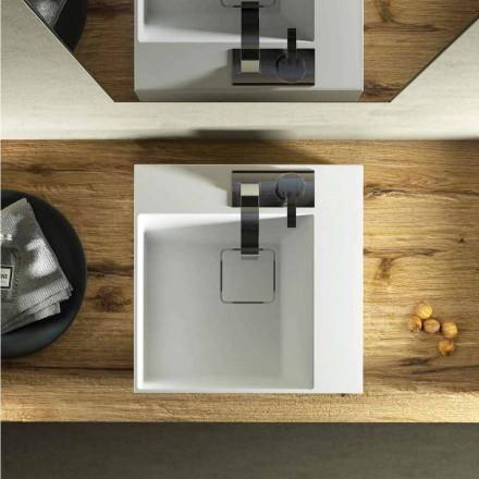 Modern design kvadratisk diskbänk tillverkad 100% i Italien, Lavis