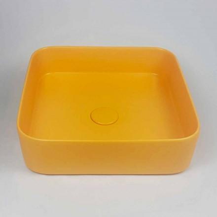 Modern design keramisk bänkskål Tvättställ Tillverkad i Italien - Dable