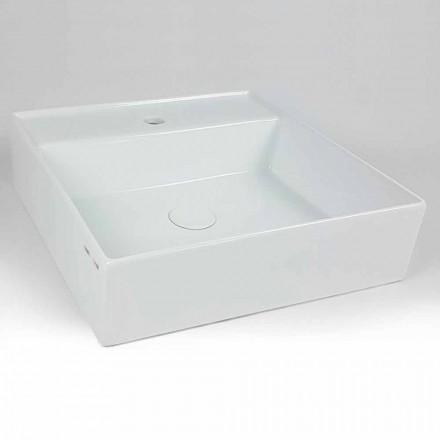 Modern fyrkantig keramisk bänkskål Tillverkad i Italien - Piacione