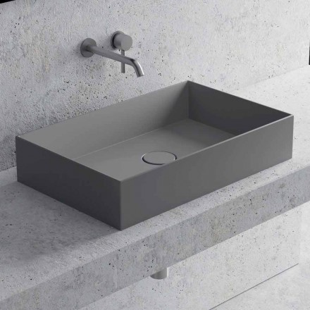 Rektangulär tvättställ i vit eller färgad keramik - Malvina