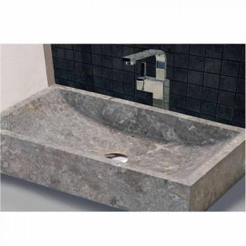 Stöd handfat rektangulär sten Natural Grey Satun