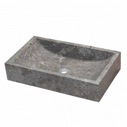 Bänk rektangulära stöd i grått marmor Satun