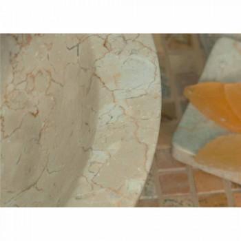 Handfat Support rund sten Natural Beige Utanför Raw Pai