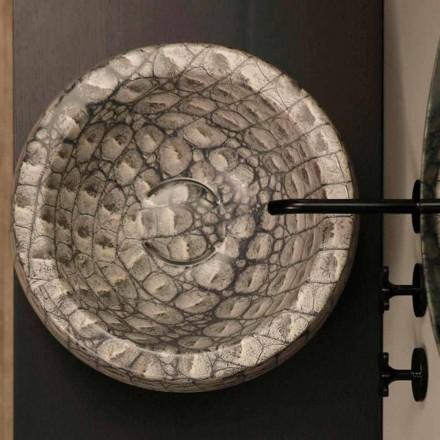 Caiman keramiska runda diskbänken tvättas i Italien Elisa design