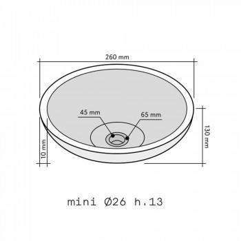 Rund diskbänk i Sula onyx