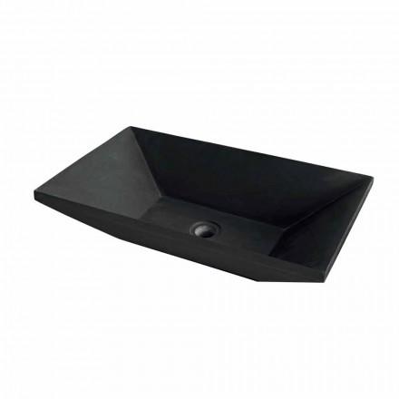 trapets handfat svart basalt Wok