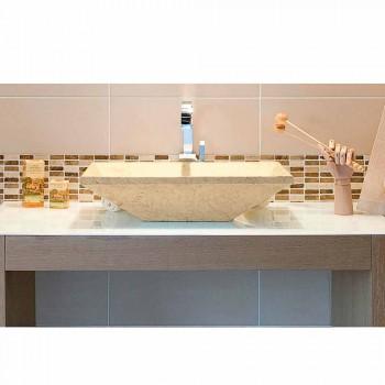 Tvättställ Stöd Keystone sten Natural Beige Wok