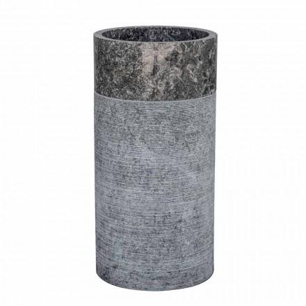 Fristående cylindriskt handfat i grå marmor - Cremino
