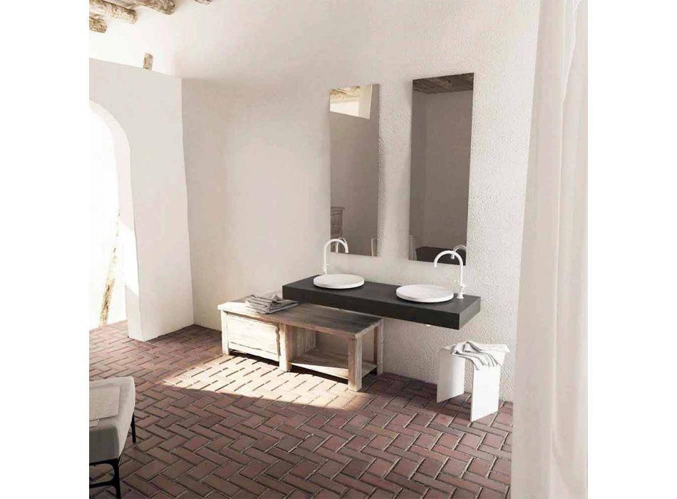 Rund design frittstående badrumsvink i italiensk grädde