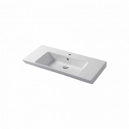 Bänkskiva eller vägginsats diskbänk i vit eller färgad keramisk Maida