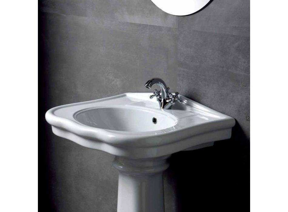 Tvättställsvägg eller med keramisk kolonn L70cm Tillverkad i Italien Avise