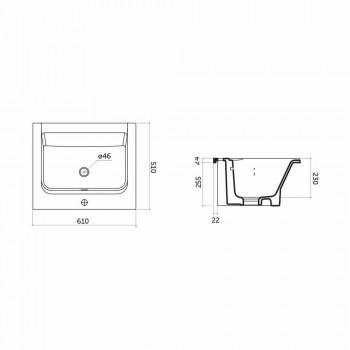 Satri Modern keramisk bänkskiva och infälld handfat