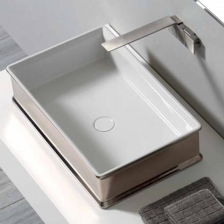 Modernt design bänkskivor keramiskt handfat tillverkat i Italien Debora