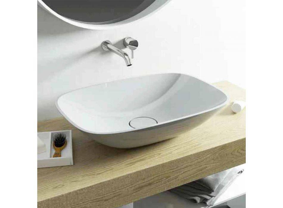 Frittstående handfat ba modernt badrum tillverkat i Italien Taormina Medium